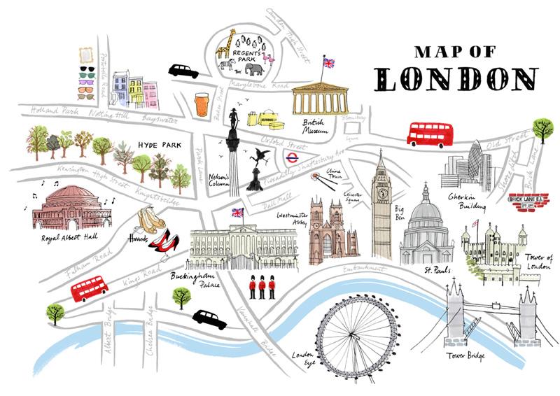 Карта Лондона - найди